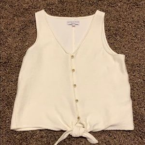 Madewell front tie tank